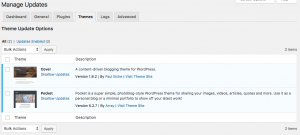 Easy Updates Manager Themes Tab