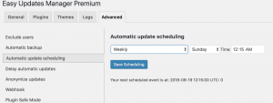 Automatic Update Scheduling