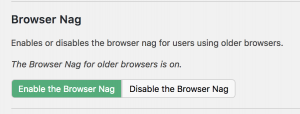 Browser Nag