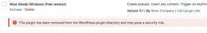 Check Plugin Warning
