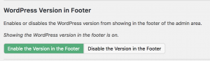 Enable Footer Version